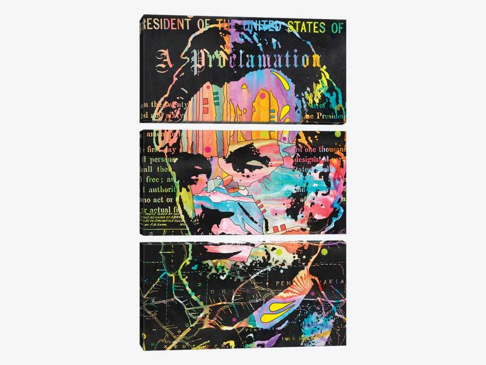 Abe's Proclamation by Dean Russo 3-piece Canvas Art Print