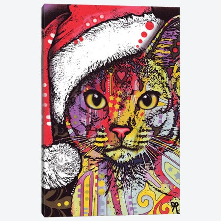 Abyssinian Christmas Edition Canvas Print #DRO340} by Dean Russo Canvas Artwork