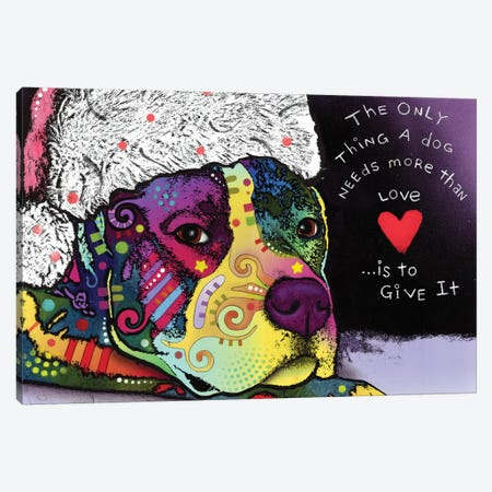 Affection Christmas Canvas Print #DRO341} by Dean Russo Canvas Artwork