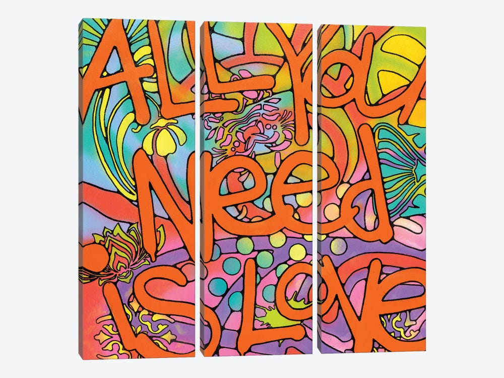 All You Need Is Love by Dean Russo 3-piece Canvas Artwork