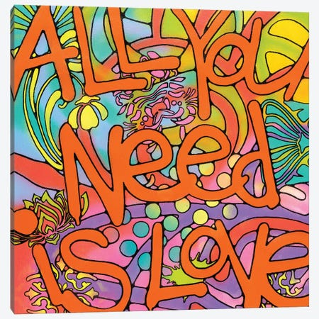 All You Need Is Love Canvas Print #DRO343} by Dean Russo Canvas Artwork