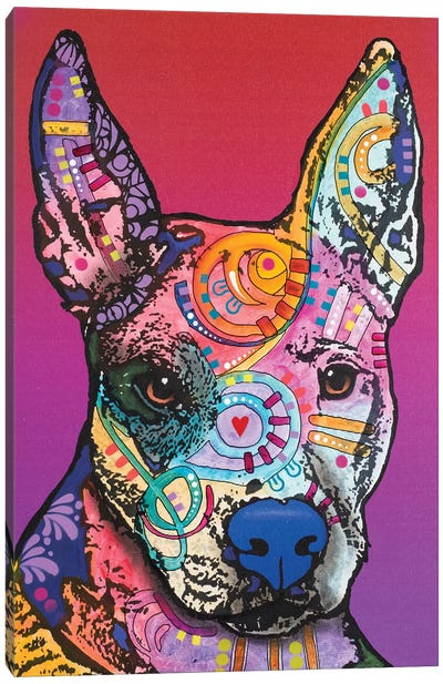 Annabelle, Pitbull Mix Canvas Art Print