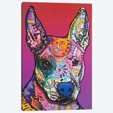 Annabelle, Pitbull Mix Canvas Print #DRO345} by Dean Russo Art Print