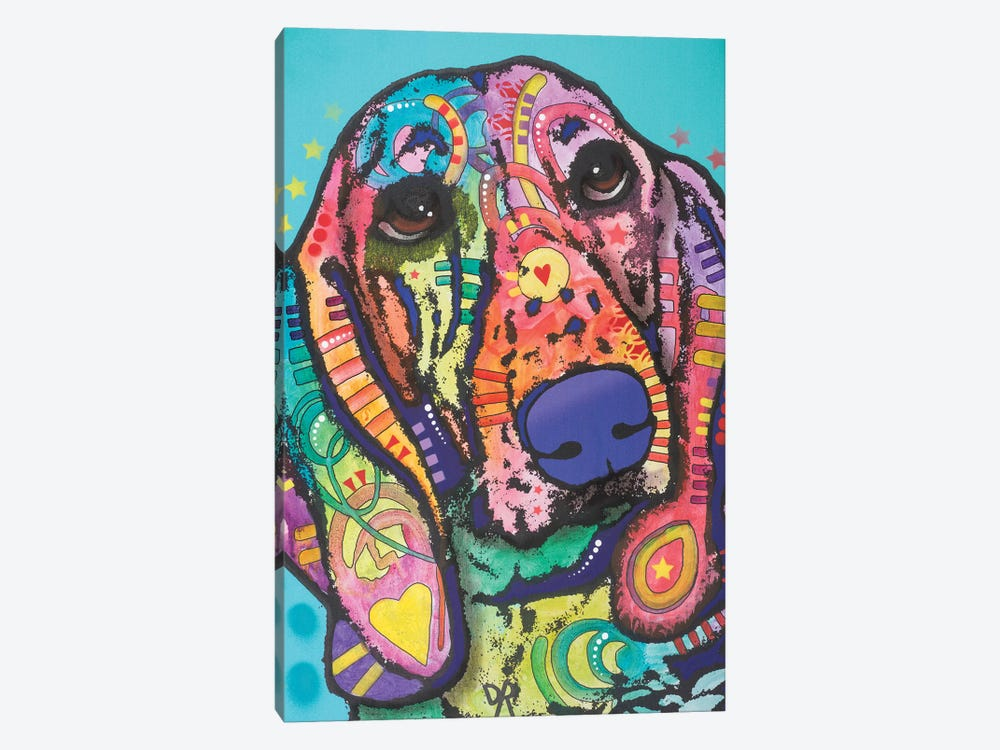 Austin, Hound Dog by Dean Russo 1-piece Art Print