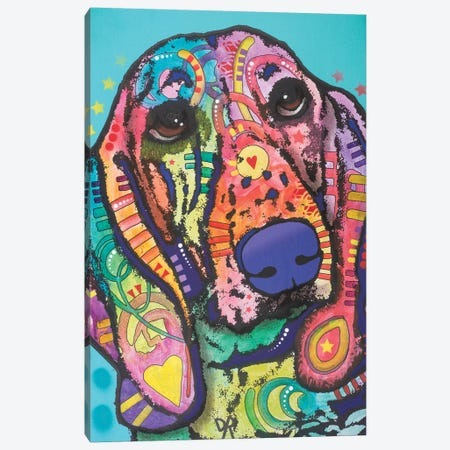 Austin, Hound Dog Canvas Print #DRO346} by Dean Russo Art Print