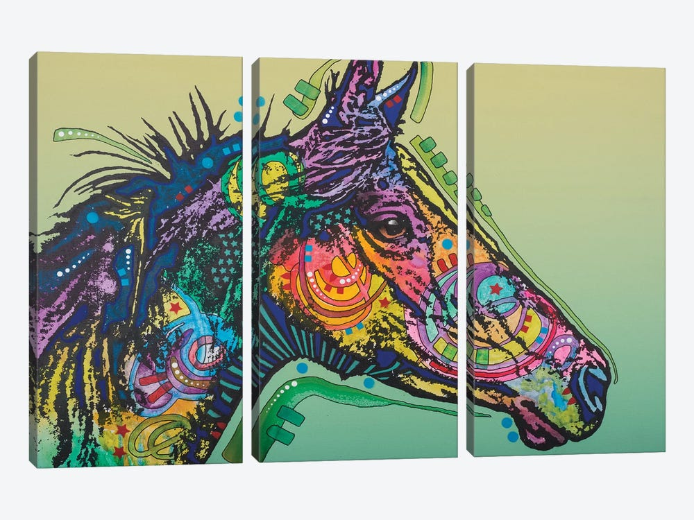 Basha, Horse by Dean Russo 3-piece Canvas Wall Art