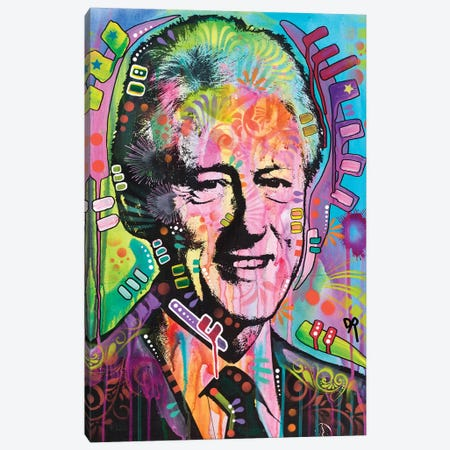 Bill Clinton Canvas Print #DRO354} by Dean Russo Canvas Art