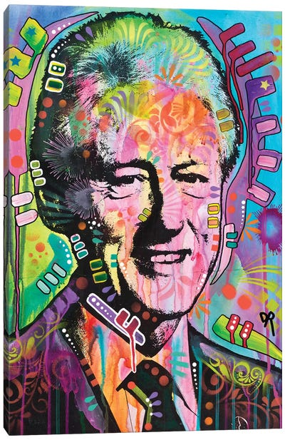 Bill Clinton Canvas Art Print