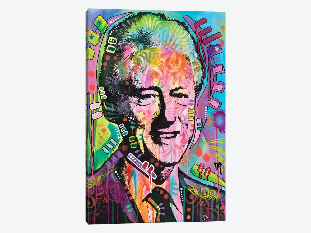 Bill Clinton by Dean Russo 1-piece Canvas Art