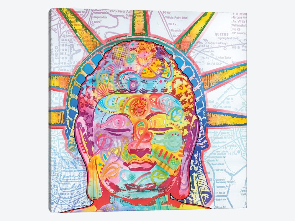 Buddha Liberty by Dean Russo 1-piece Art Print