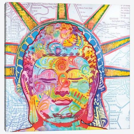 Buddha Liberty Canvas Print #DRO359} by Dean Russo Art Print