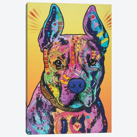Bugsy, French Bulldog Canvas Print #DRO360} by Dean Russo Canvas Wall Art