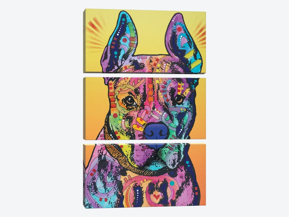 Bugsy, French Bulldog by Dean Russo 3-piece Canvas Art Print
