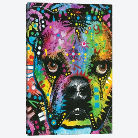 Bulldog II Canvas Print #DRO362} by Dean Russo Canvas Wall Art