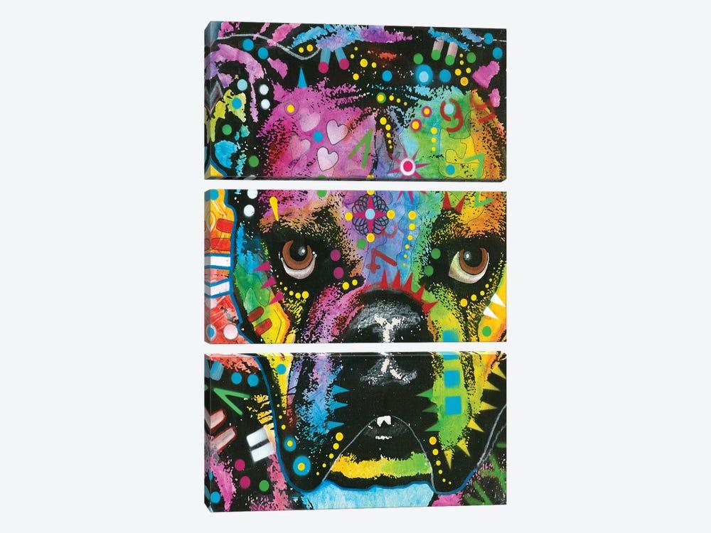 Bulldog II by Dean Russo 3-piece Canvas Art Print