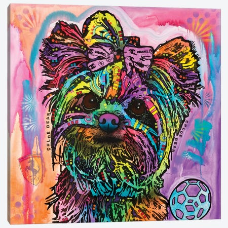 Chloe Bear Canvas Print #DRO373} by Dean Russo Art Print