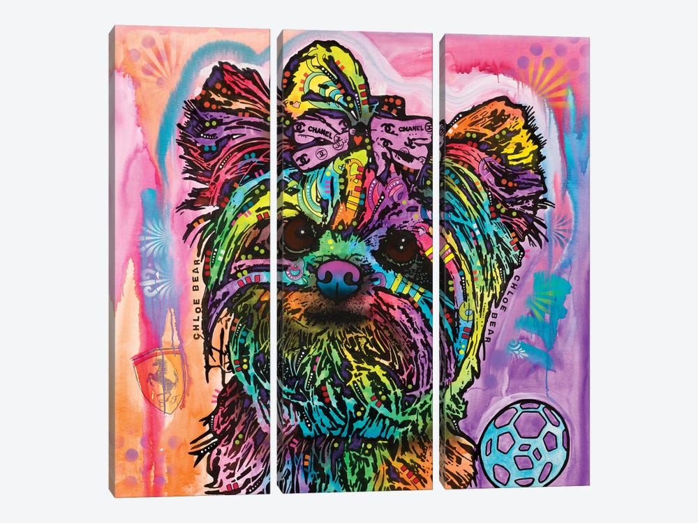 Chloe Bear by Dean Russo 3-piece Canvas Art Print