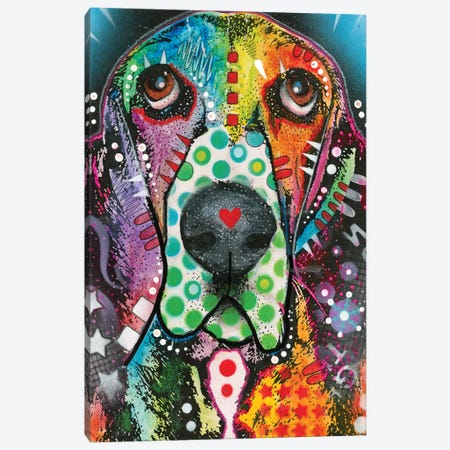 Coonhound Canvas Print #DRO376} by Dean Russo Canvas Wall Art