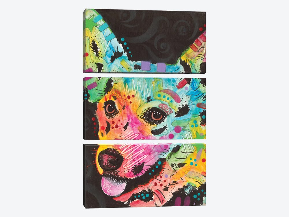 Corgi I by Dean Russo 3-piece Canvas Print
