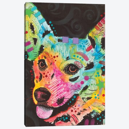 Corgi I 3-Piece Canvas #DRO377} by Dean Russo Canvas Art
