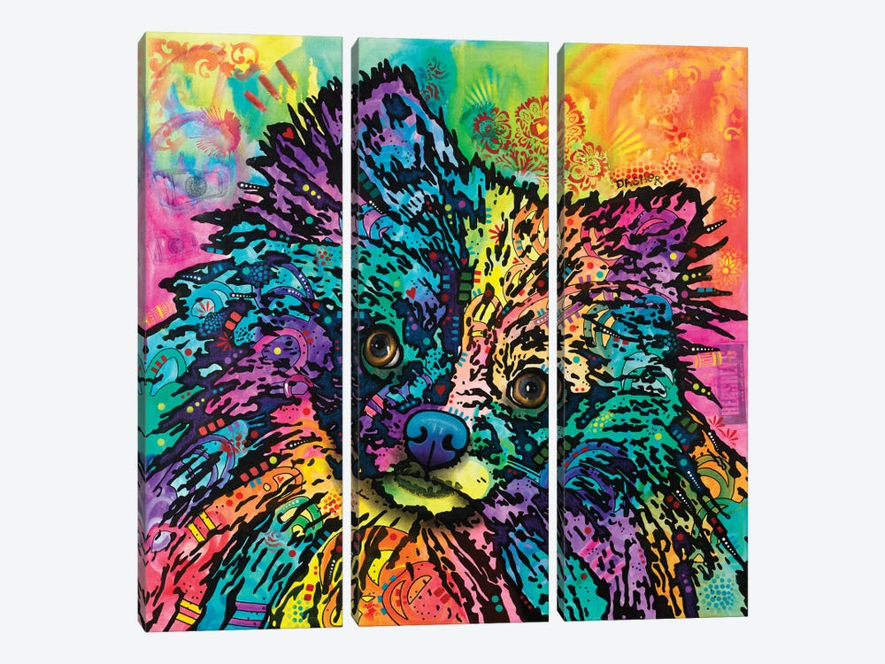 Dasher by Dean Russo 3-piece Canvas Print