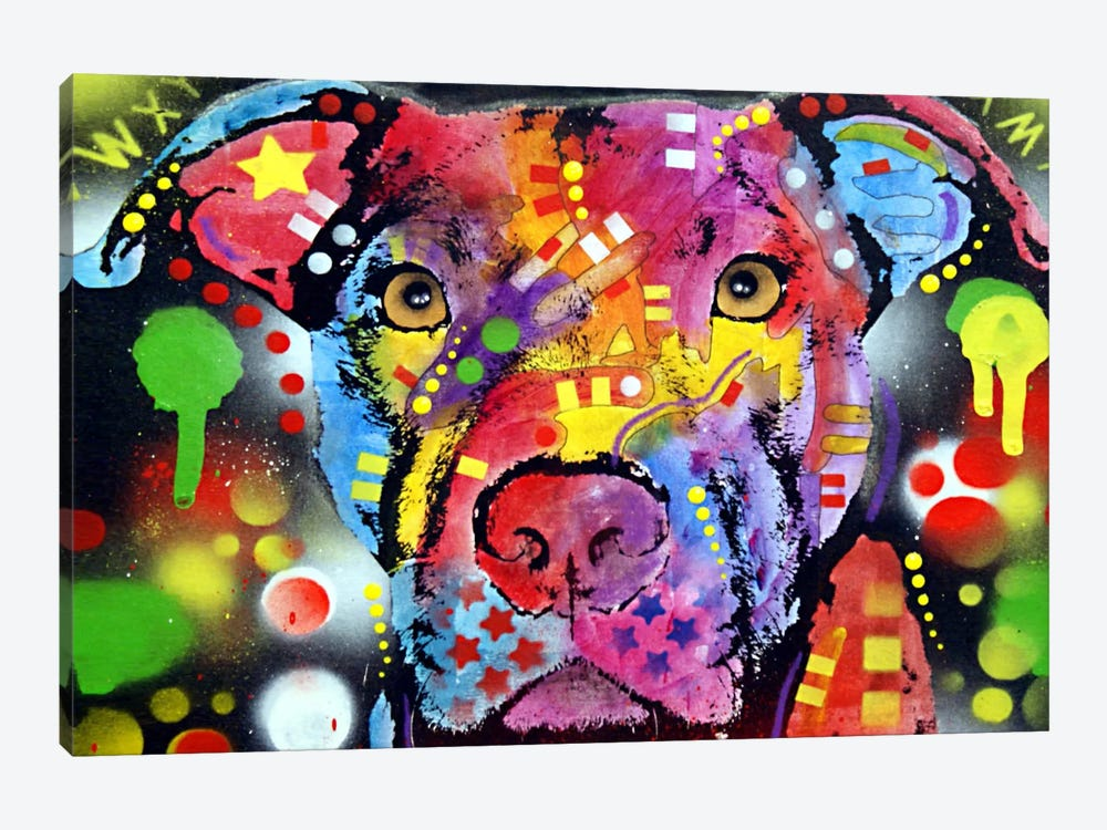 The Brooklyn Pit Bull by Dean Russo 1-piece Canvas Art Print
