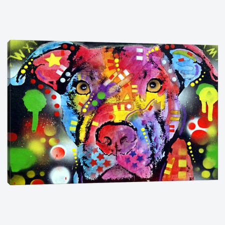The Brooklyn Pit Bull Canvas Print #DRO37} by Dean Russo Canvas Wall Art