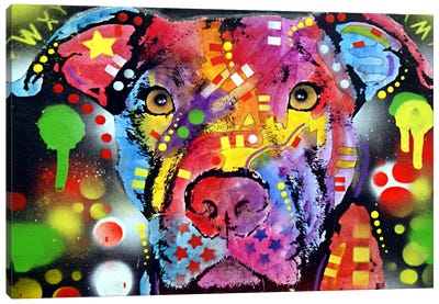 The Brooklyn Pit Bull Canvas Art Print