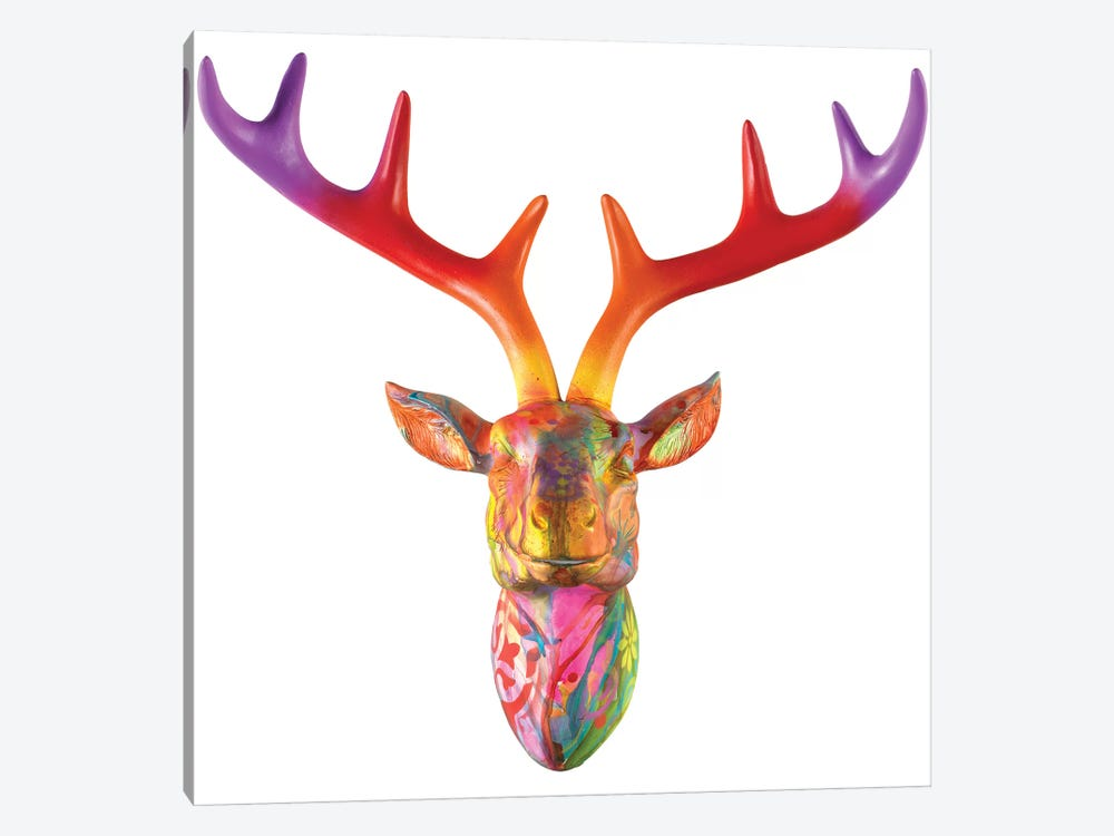 Deer Bust by Dean Russo 1-piece Canvas Print