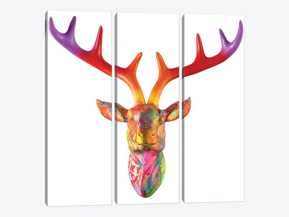 Deer Bust by Dean Russo 3-piece Art Print