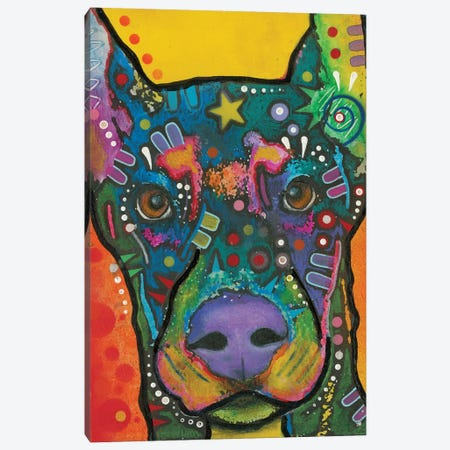Doberman Pinscher Canvas Print #DRO382} by Dean Russo Canvas Art