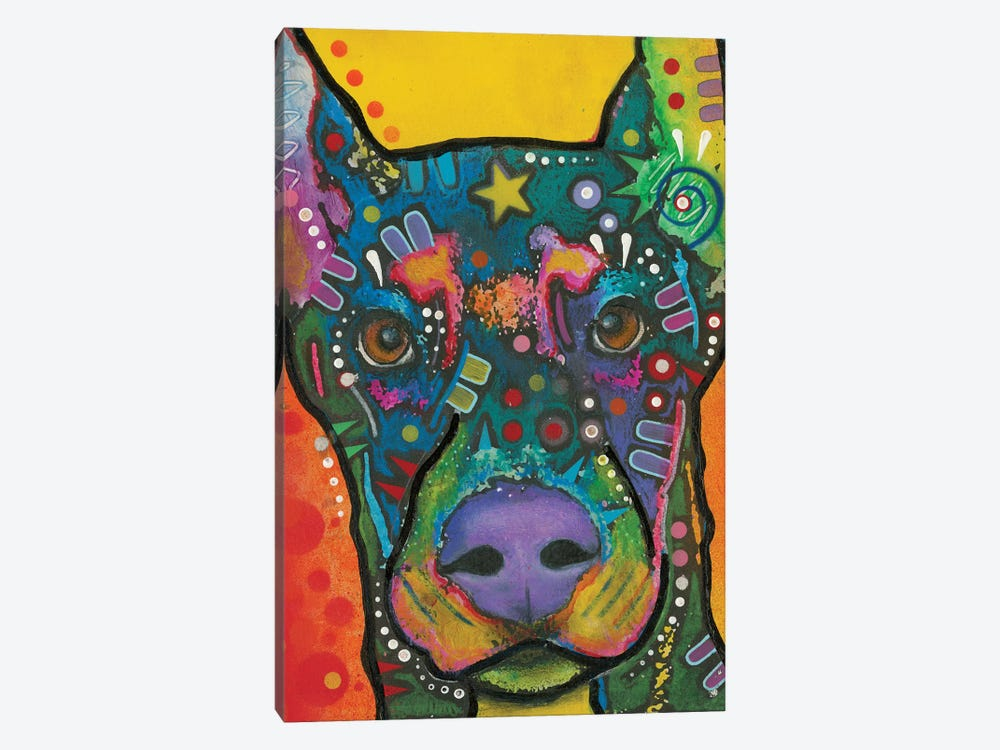 Doberman Pinscher by Dean Russo 1-piece Art Print