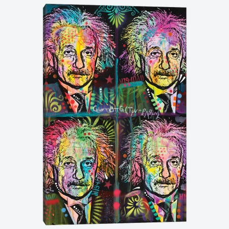 Einstein 4 Up Canvas Print #DRO386} by Dean Russo Art Print