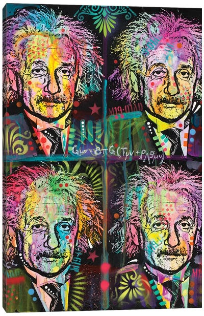 Einstein 4 Up Canvas Art Print