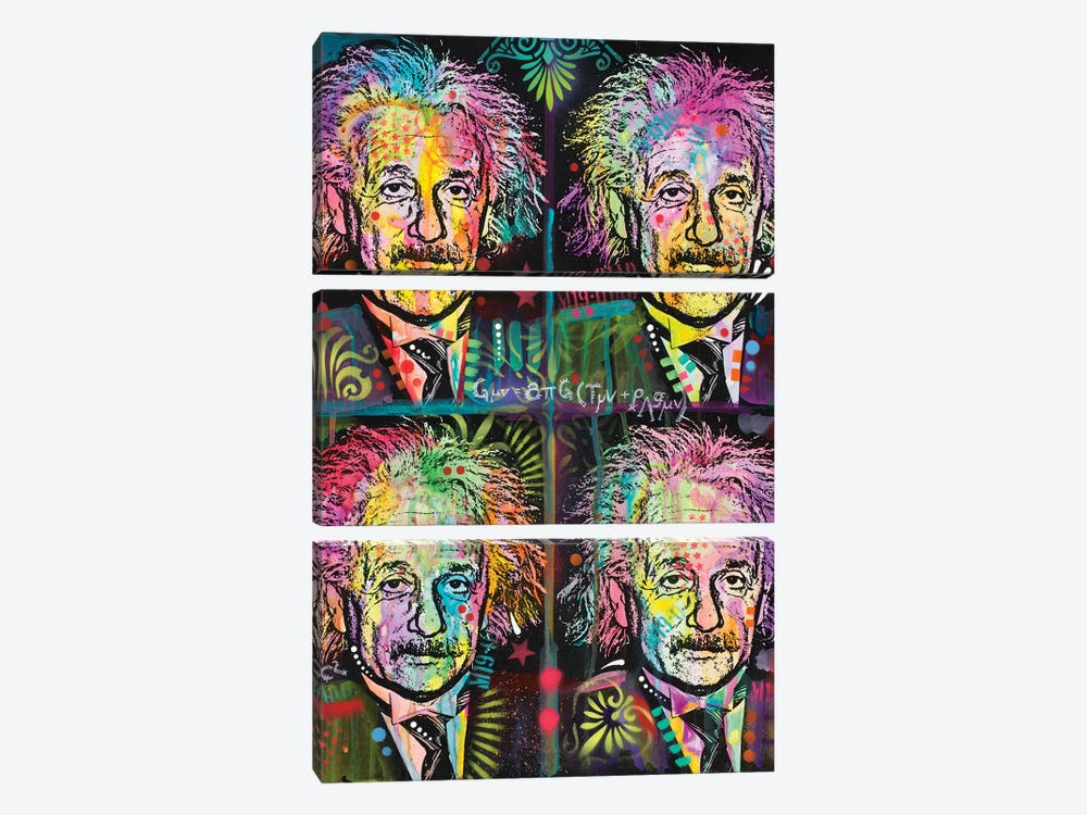 Einstein 4 Up by Dean Russo 3-piece Art Print