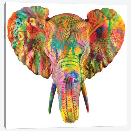 Elephant Bust Canvas Print #DRO388} by Dean Russo Canvas Artwork