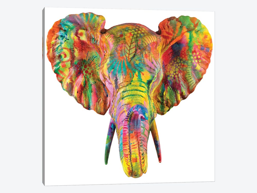 Elephant Bust by Dean Russo 1-piece Art Print