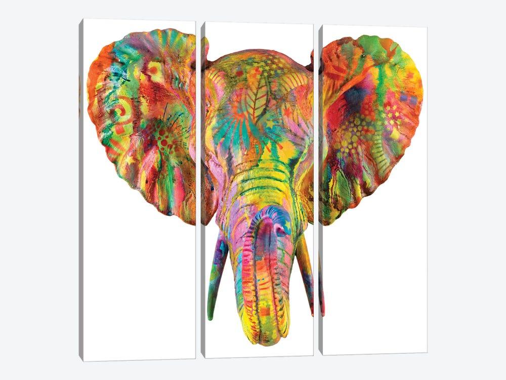Elephant Bust by Dean Russo 3-piece Art Print