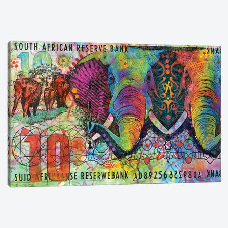 Elephants, South African Reserve Bank Canvas Print #DRO389} by Dean Russo Canvas Artwork