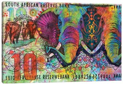 Elephants, South African Reserve Bank Canvas Art Print