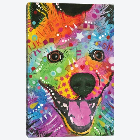 Eskimo Dog Canvas Print #DRO392} by Dean Russo Art Print