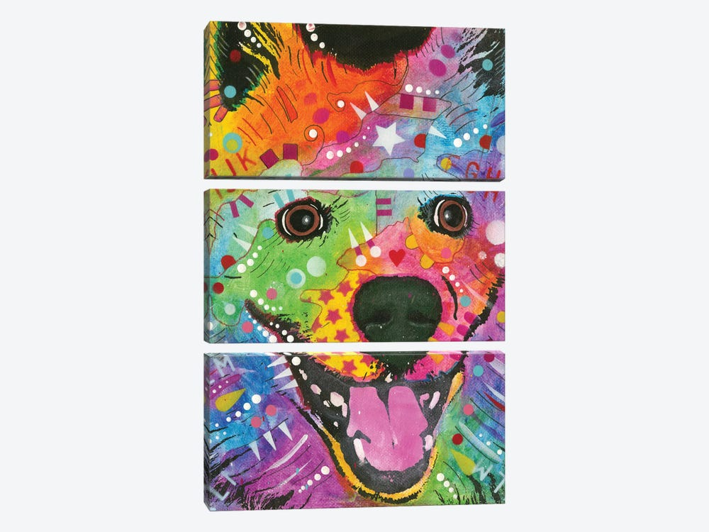 Eskimo Dog by Dean Russo 3-piece Canvas Wall Art