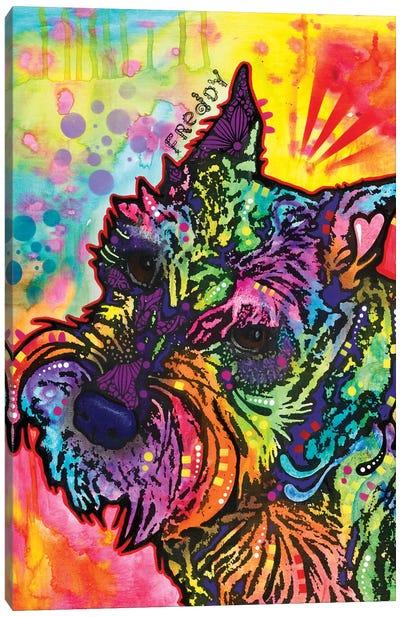 Freddy The Schnauzer Canvas Art Print