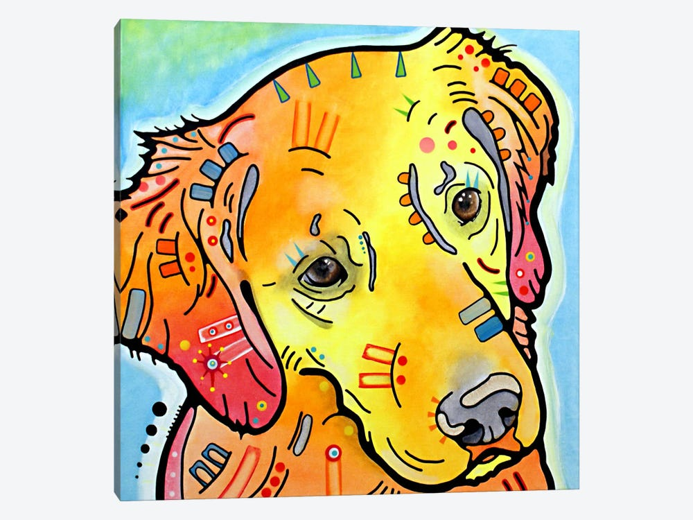 The Golden(ish) Retriever by Dean Russo 1-piece Canvas Art Print