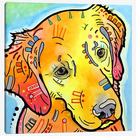 The Golden(ish) Retriever Canvas Print #DRO39} by Dean Russo Canvas Art Print