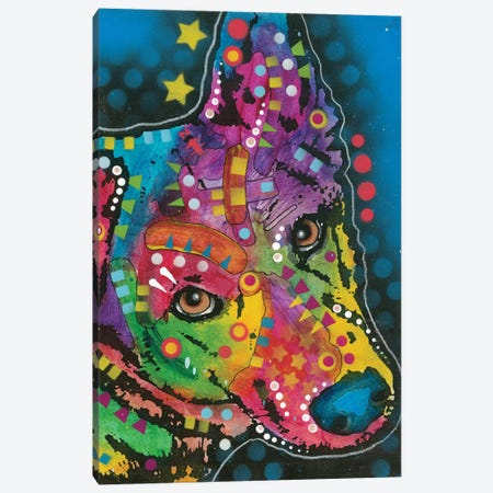 German Shepherd I Canvas Print #DRO404} by Dean Russo Canvas Wall Art