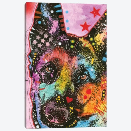 German Shepherd II Canvas Print #DRO405} by Dean Russo Canvas Wall Art