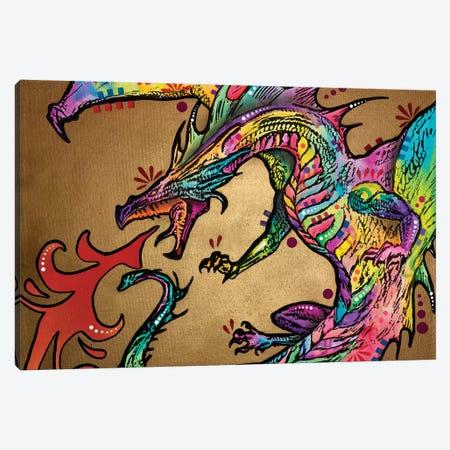 Golden Dragon Canvas Print #DRO407} by Dean Russo Canvas Art