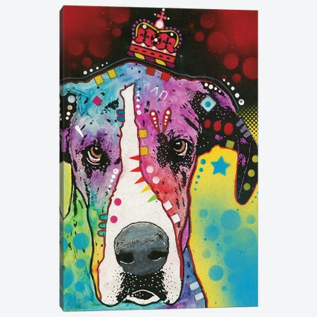 Great Dane II Canvas Print #DRO410} by Dean Russo Canvas Artwork