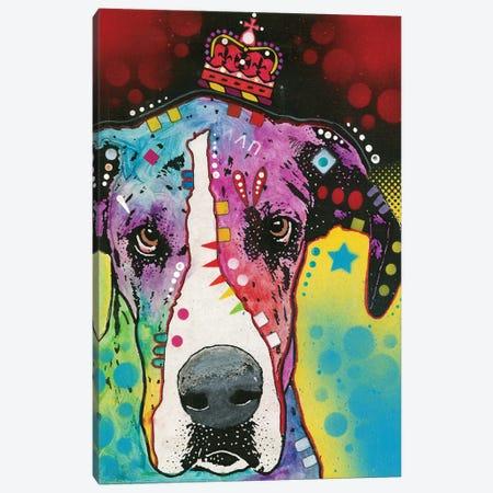 Great Dane II Canvas Print #DRO410} by Dean Russo Canvas Artwork